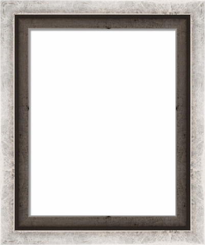 Wood Canvas Floater Picture Frame Custom Silver Leaf